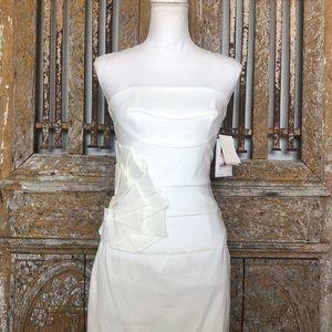 JESSICA MCCLINTOCK White Bridal Dress Strapless 2